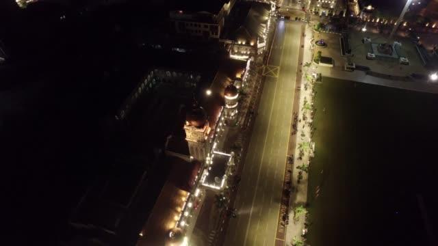 kuala lumpur's illuminated cityscape by night - menara kuala lumpur tower stock videos and b-roll footage