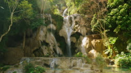Kuang Si Waterfall near Luang Prabang in Laos