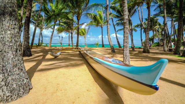 vídeos y material grabado en eventos de stock de kuau cove outrigger beach maui hawaii - exotismo