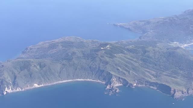 aerial, kuchinoerabujima is, kagoshima, japan - philippine sea stock videos & royalty-free footage