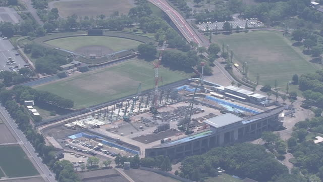 AERIAL, Kumagaya Rugby Stadium Under Construction, Japan