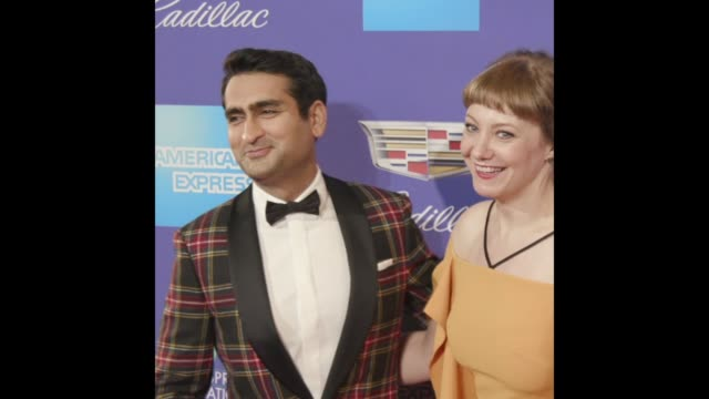 GIF Kumail Nanjiani Emily V Gordon at the 29th Annual Palm Springs International Film Festival Awards Gala