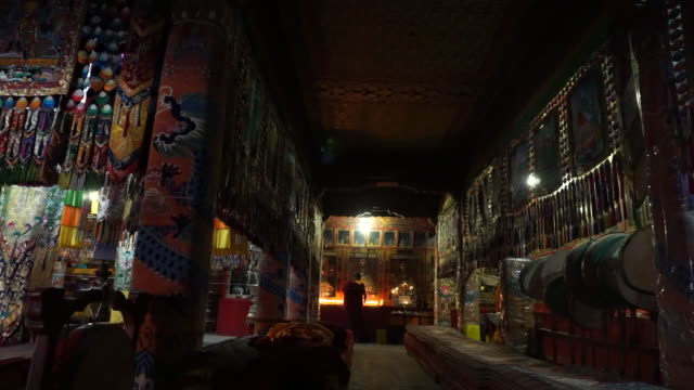 kumbum monastery is one of the two most important tibetan buddhist monasteries outside tibet in order to commemorate tsong khapa founder of the... - lamasery stock videos and b-roll footage