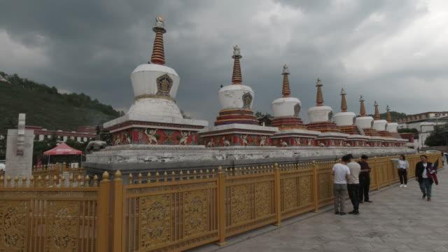 kumbum monastery, xining, qinghai province, china - lamasery stock videos and b-roll footage