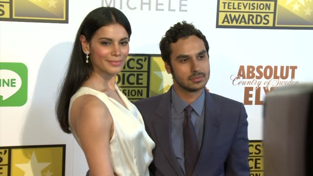 kunal nayyar and neha kapur at the 2014 critics' choice television awards at the beverly hilton hotel on june 19, 2014 in beverly hills, california. - the beverly hilton hotel stock videos & royalty-free footage