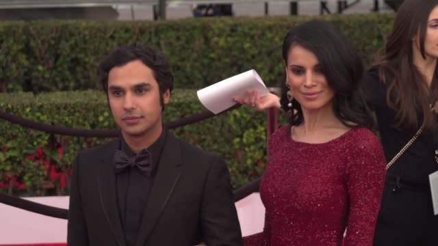 kunal nayyar at the 22nd annual screen actors guild awards - arrivals at the shrine auditorium on january 30, 2016 in los angeles, california. 4k... - shrine auditorium stock videos & royalty-free footage