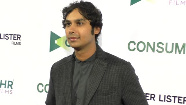 kunal nayyar at the consumed premiere at laemmle music hall in beverly hills in celebrity sightings in los angeles, - 2015 stock videos & royalty-free footage