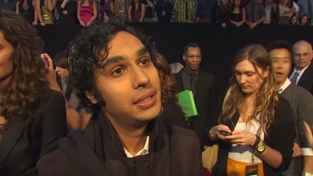 kunal nayyar on being nominated for the big bang theory at the 36th annual people's choice awards at los angeles ca. - people's choice awards stock videos & royalty-free footage