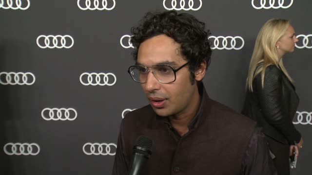 INTERVIEW Kunal Nayyar on this Audi preEmmy event has been the favorite way for Hollywood to kickoff Emmy's week for seven years at Audi Celebrates...