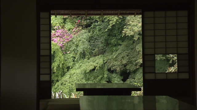 """kunenan"" is a name of villa and the garden with the width of 6800 square meters it was built by yataro itami a famous entrepreneur in saga... - oriental garden stock videos and b-roll footage"