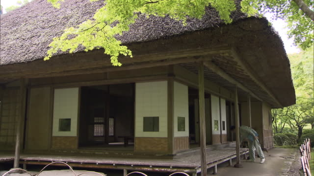 """""""kunenan"""" is a name of villa and the garden with the width of 6800 square meters. it was built by yataro itami, a famous entrepreneur in saga... - coloured background stock videos & royalty-free footage"""