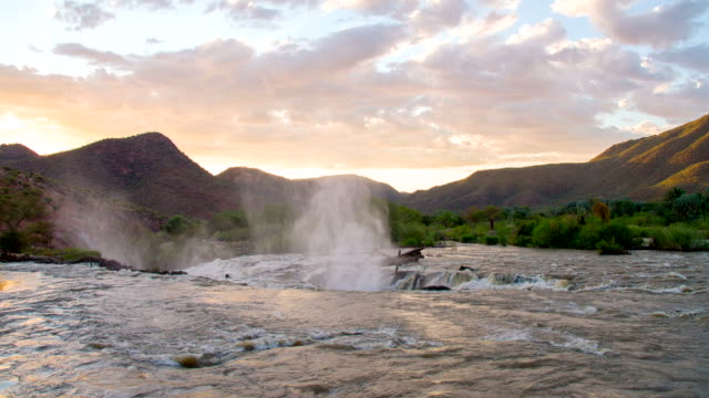 WS Kunene River With Mountains In Background