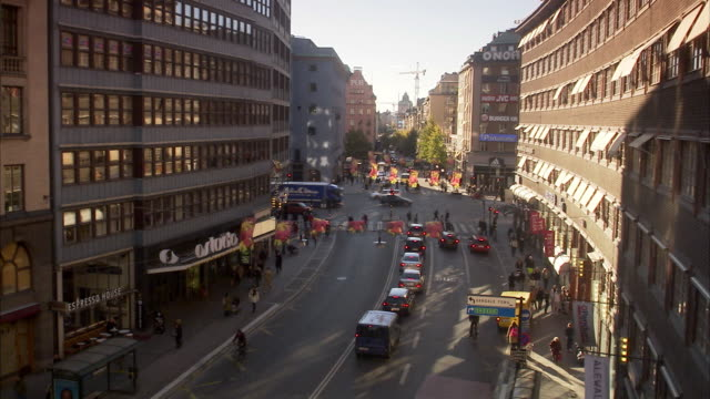 kungsgatan stockholm sweden. - swedish culture stock videos and b-roll footage