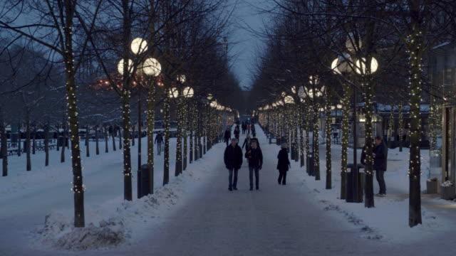 Kungstradgarden Park Walkway in Stockholm, Sweden