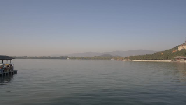 kunming lake and the summer palace, unesco world heritage site, beijing, people's republic of china, asia - summer palace beijing stock videos & royalty-free footage