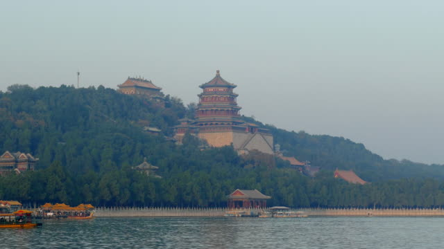 kunming lake cruise in the summer palace, beijing, china - summer palace beijing stock videos & royalty-free footage