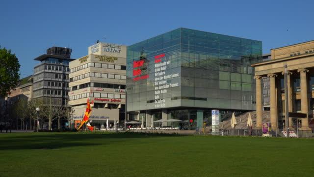 kunstmuseum (museum of art), stuttgart, baden-württemberg, germany - western script stock videos & royalty-free footage