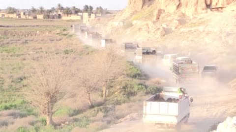 kurdish-led forces supported by air strikes from an international coalition evacuated civilians held as human shields on monday after smashing their... - civilian stock videos & royalty-free footage