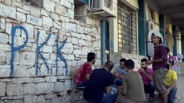 kurds in lavrio refugee camp mark the anniversary of the rojava revolution greece 19 july 2016 - kurdistan workers party stock videos & royalty-free footage