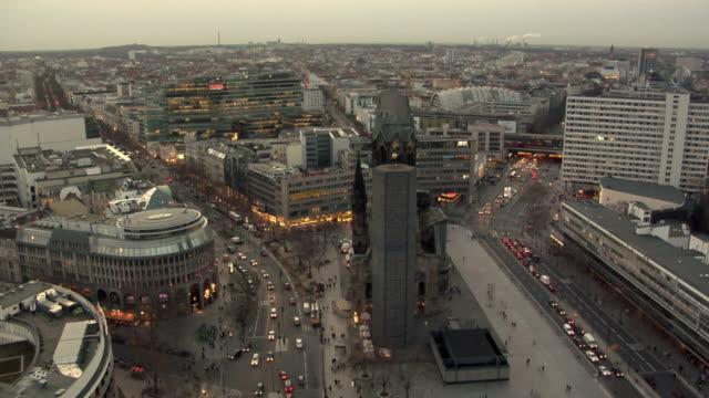 WS, HA, Kurfuerstendamm district at dusk, Berlin, Germany