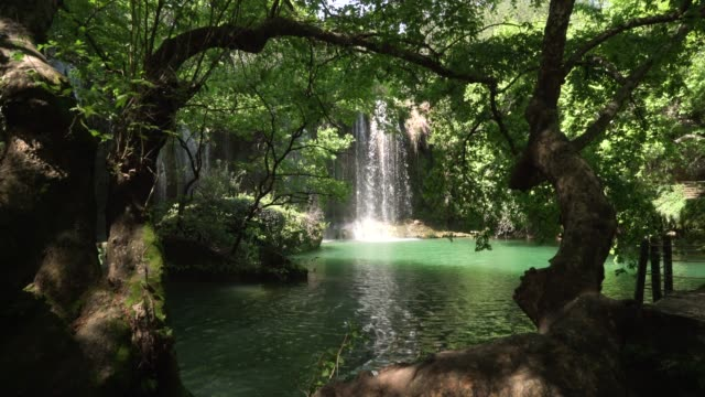 kursunlu waterfall antalya - idyllic video stock e b–roll