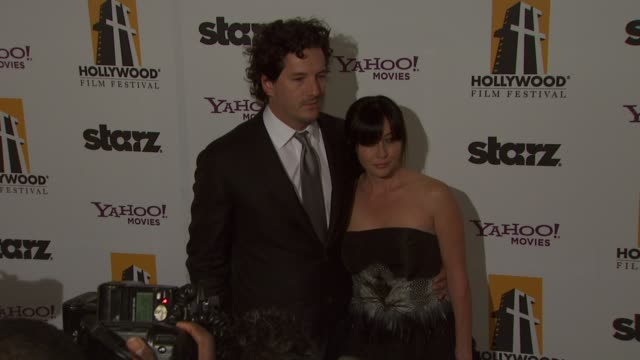 Kurt Iswarienko Shannen Doherty at the 13th Annual Hollywood Awards Gala in Beverly Hills California