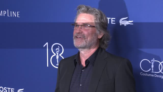 kurt russell at 18th costume designers guild awards with presenting sponsor lacoste in los angeles, ca 2/23/16 - kurt russell stock videos & royalty-free footage