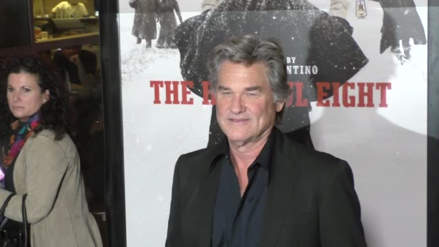 Kurt Russell at the Hateful Eight Premiere at ArcLight Theatre in Hollywood at Celebrity Sightings in Los Angeles on December 07 2015 in Los Angeles...