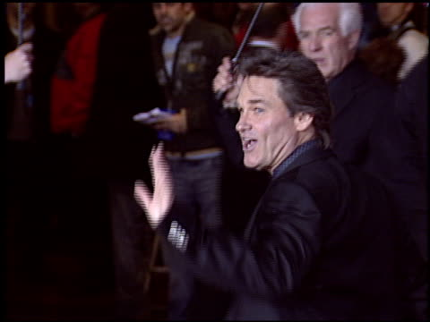 kurt russell at the 'miracle' premiere at the el capitan theatre in hollywood california on february 2 2004 - miracle stock videos & royalty-free footage