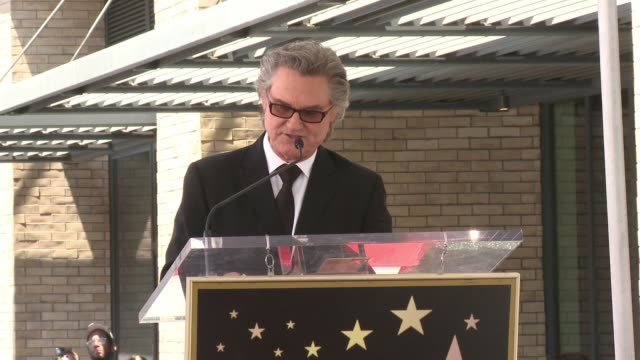 SPEECH Kurt Russell at the Walk Of Fame To Honor Goldie Hawn And Kurt Russell With Special Double Star Ceremony on May 4 2017 in Hollywood California