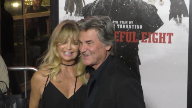 Kurt Russell Goldie Hawn at the Hateful Eight Premiere at ArcLight Theatre in Hollywood at Celebrity Sightings in Los Angeles on December 07 2015 in...