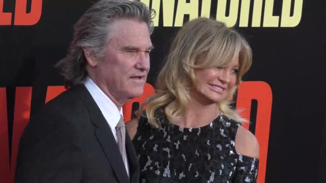 kurt russell & goldie hawn at the premiere of 20th century fox's 'snatched' - arrivals on may 10, 2017 in westwood, california. - kurt russell stock videos & royalty-free footage