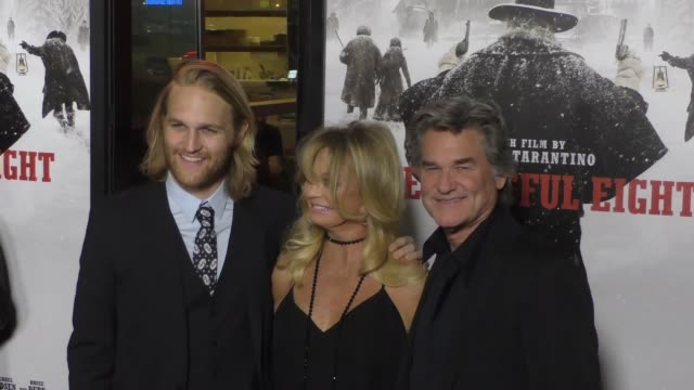 Kurt Russell Goldie Hawn Wyatt Russell at the Hateful Eight Premiere at ArcLight Theatre in Hollywood at Celebrity Sightings in Los Angeles on...
