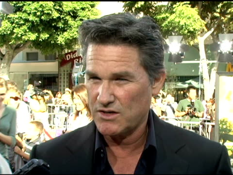 kurt russell on his prediction that audiences will be surprised to find 'dreamer' to be a film for adults, dakota's talents, the media putting... - kurt russell stock videos & royalty-free footage