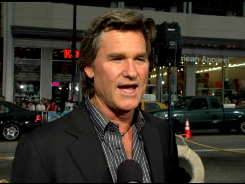 Kurt Russell On the story not having much character development on why this was a good subject matter for a remake at the Warner Brothers Pictures...