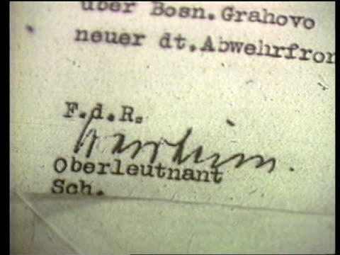 Washington National Archive CS Top of secret German document CS Waldheim's signature on document TCMS Document