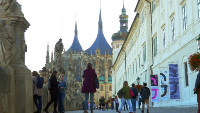 kutná hora st. barbara's church and jesuit college - czech republic stock videos & royalty-free footage