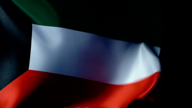 kuwait flag flapping - basra stock videos & royalty-free footage