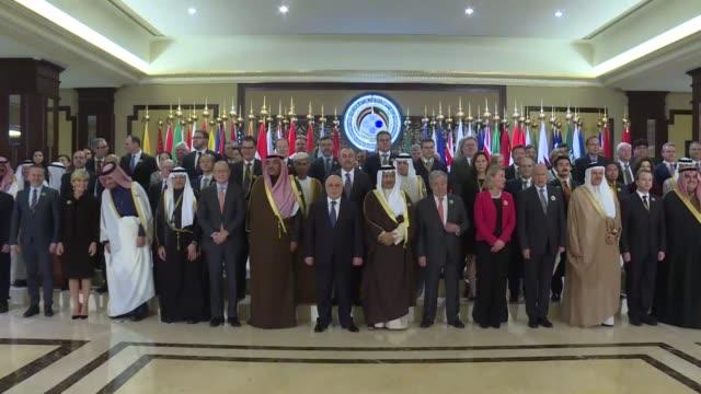 Kuwait International Conference for Reconstruction of Iraq kicks off on February 14 2018 in Kuwait City Kuwaiti Prime Minister Jaber AlMubarak...