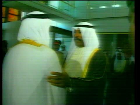 kuwait / iraq oil dispute; c4n: saudi arabia: jeddah: saudi negotiators: kuwait/iraq delegates: - jiddah stock videos & royalty-free footage