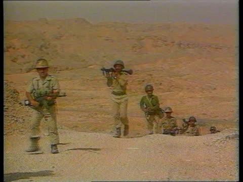 kuwait / iraq oil dispute itn lib iraqi troops towards border - kuwait stock videos and b-roll footage