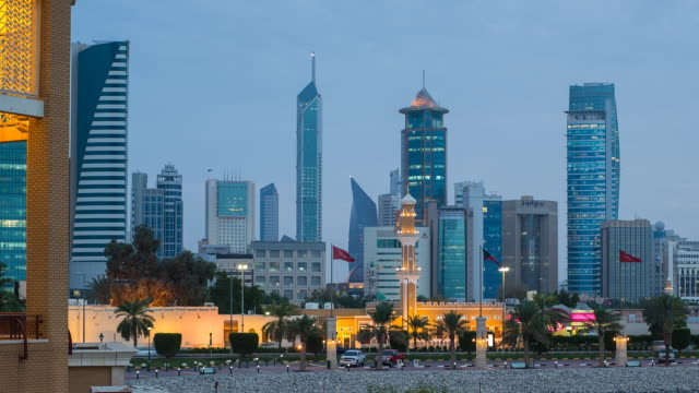 Kuwait, Kuwait City, Dar Al-Awadi Building and Minaret by Sharq Souk