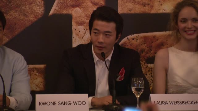 Kwone Sang Woo on his character at Chinese Zodiac Press Conference 65th Cannes Film Festival on May 18 2012 in Cannes France