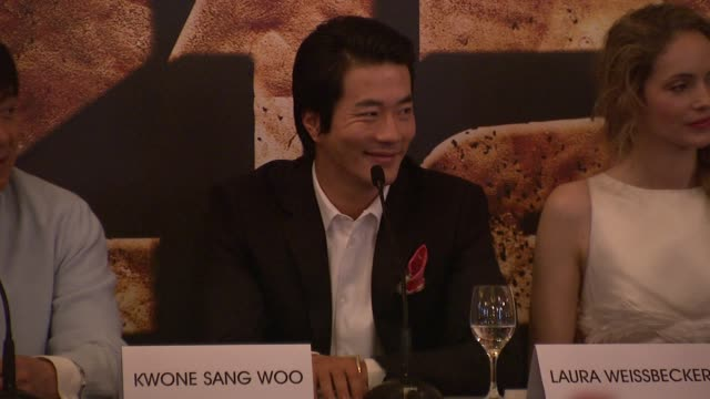 Kwone Sang Woo on making the film working with Jackie Chan at Chinese Zodiac Press Conference 65th Cannes Film Festival on May 18 2012 in Cannes...