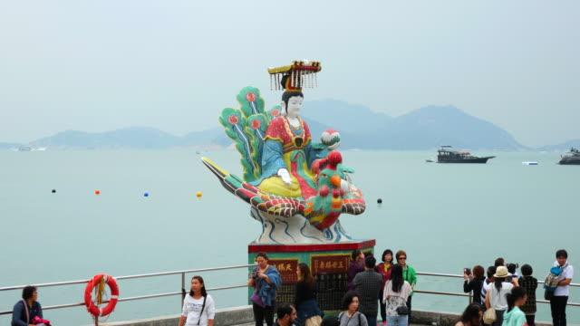 Hong Kong, China - October 11, 2015 : Kwum Yam Taoist shrine at the southeastern end of Repulse Bay.,hong kong-Tin Hau Temple Repulse Bay