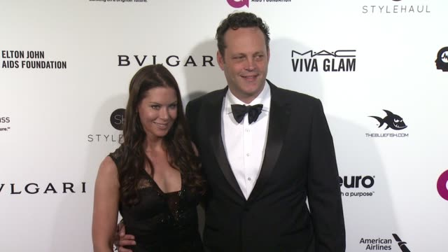 kyla weber and vince vaughn at elton john aids foundation presents 24th annual academy awards viewing party on february 28, 2016 in west hollywood,... - vince vaughn stock videos & royalty-free footage