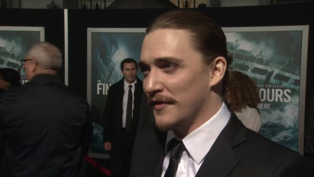 interview kyle gallner on what it means to have his movie premiere at such an iconic theater on if he's excited to see it in imax on what percentage... - tcl chinese theater stock-videos und b-roll-filmmaterial