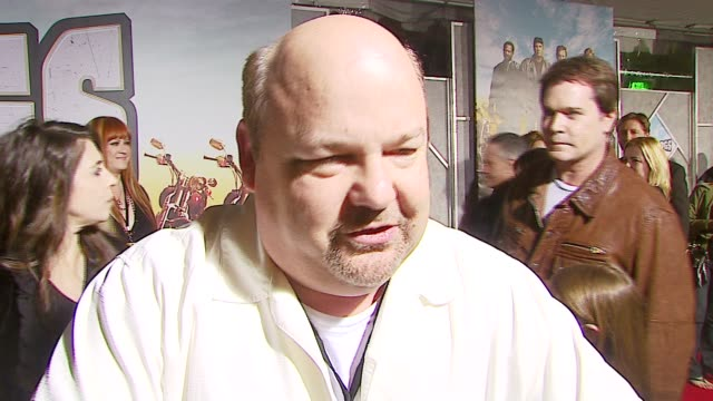 kyle gass on playing a karaoke singer in the film at the 'wild hogs' premiere at the el capitan theatre in hollywood, california on february 27, 2007. - el capitan kino stock-videos und b-roll-filmmaterial