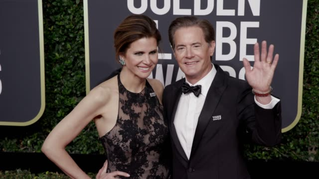 Kyle MacLachlan and Desiree Gruber at the 75th Annual Golden Globe Awards at The Beverly Hilton Hotel on January 07 2018 in Beverly Hills California