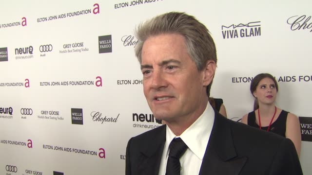 INTERVIEW Kyle MacLachlan at Elton John AIDS Foundation Presents 21st Annual Academy Awards Viewing Party Sponsored By Chopard Neuro Drinks And Wells...